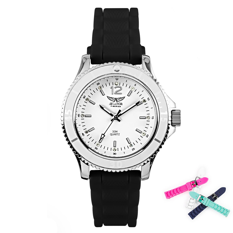 Aviator Watch AVW1276426 Silver