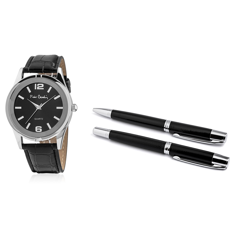 Pierre Cardin Gift Set Watch & Pen PCX8357G28 Silver