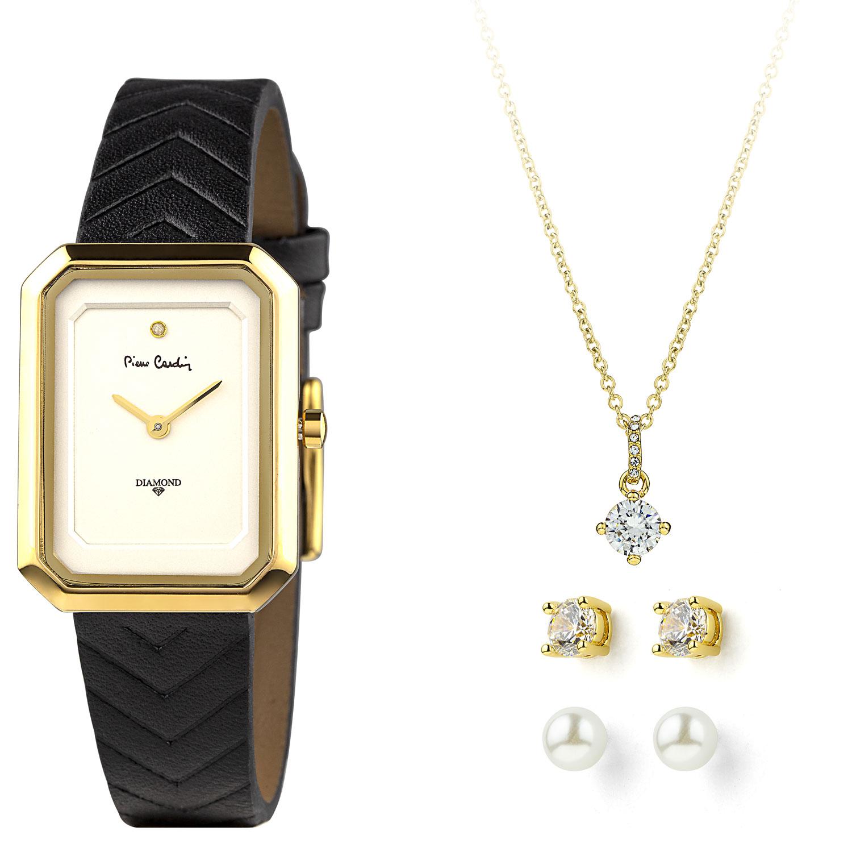 Pierre Cardin Gift Set Watch & Necklace & Earrings PCDX8381L20 Gold