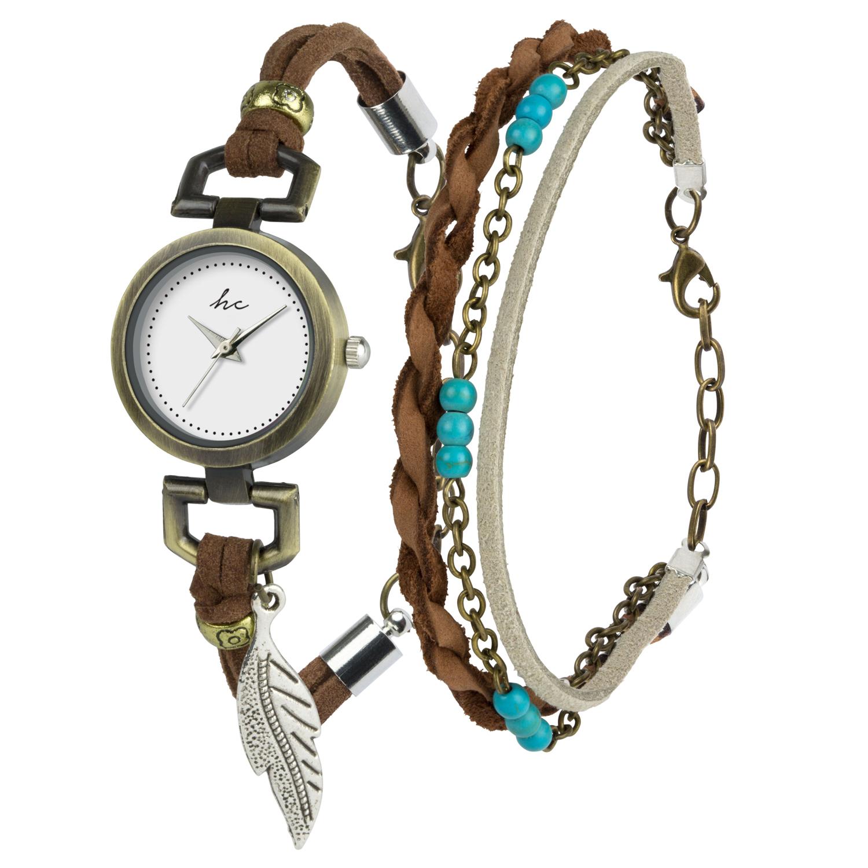 Hippie Chic Gift Set Watch & Bracelet B-TI-HCPIP Brown