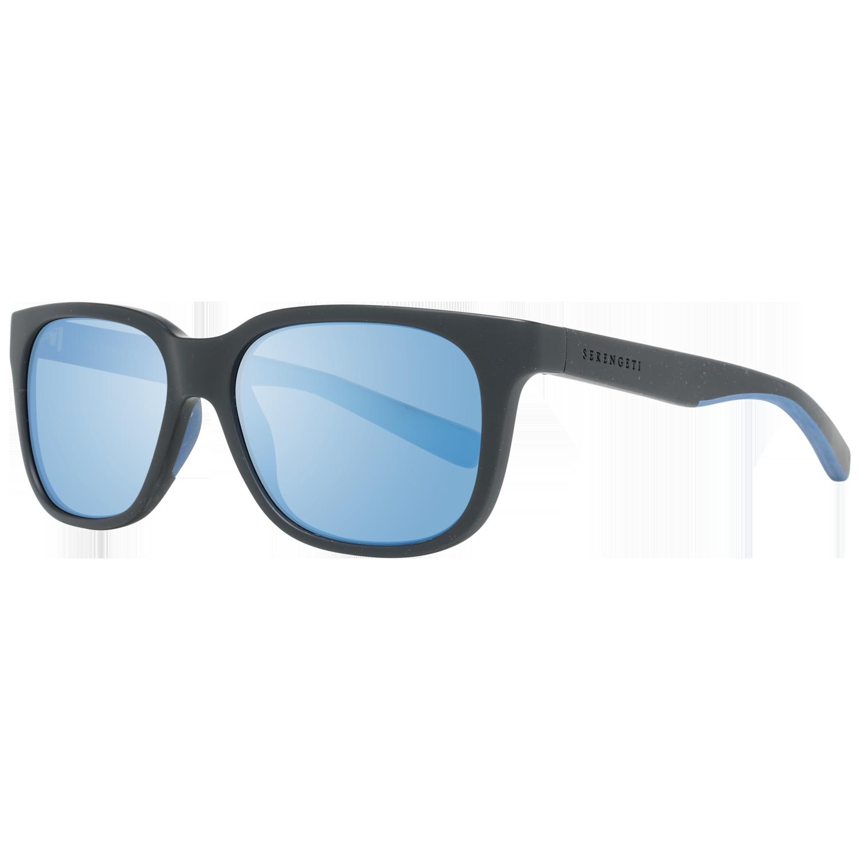 Serengeti Sunglasses 8679 Egeo 55 Sanded Black Black