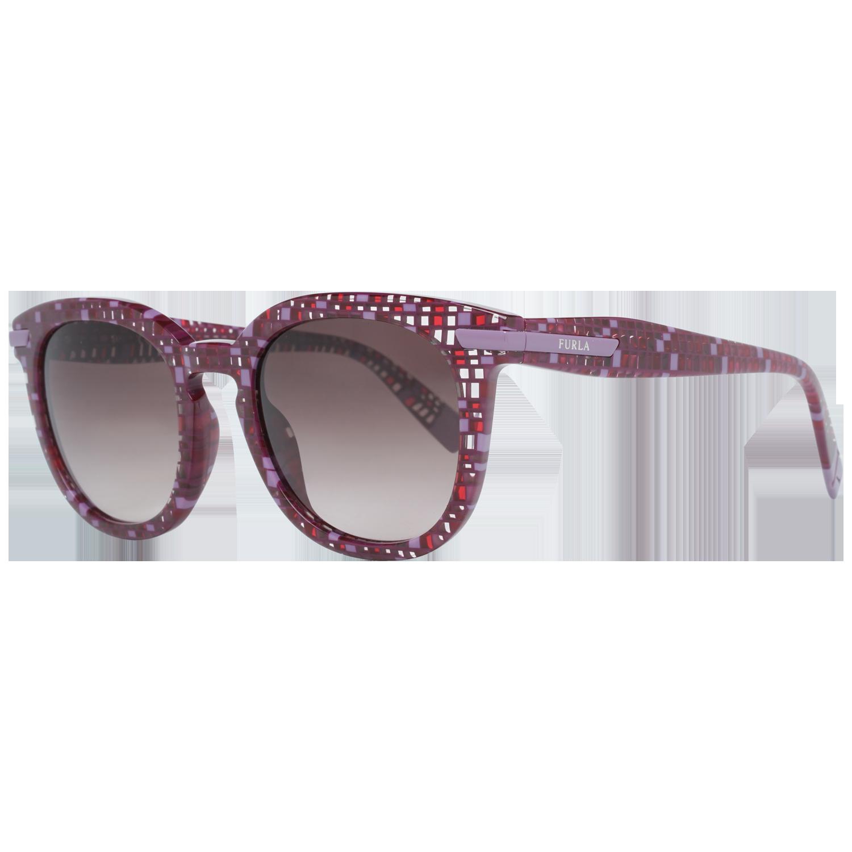 Furla Sunglasses SFU036 0GB4 49 Burgundy