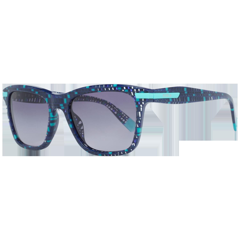 Furla Sunglasses SFU037 0GB2 52 Blue