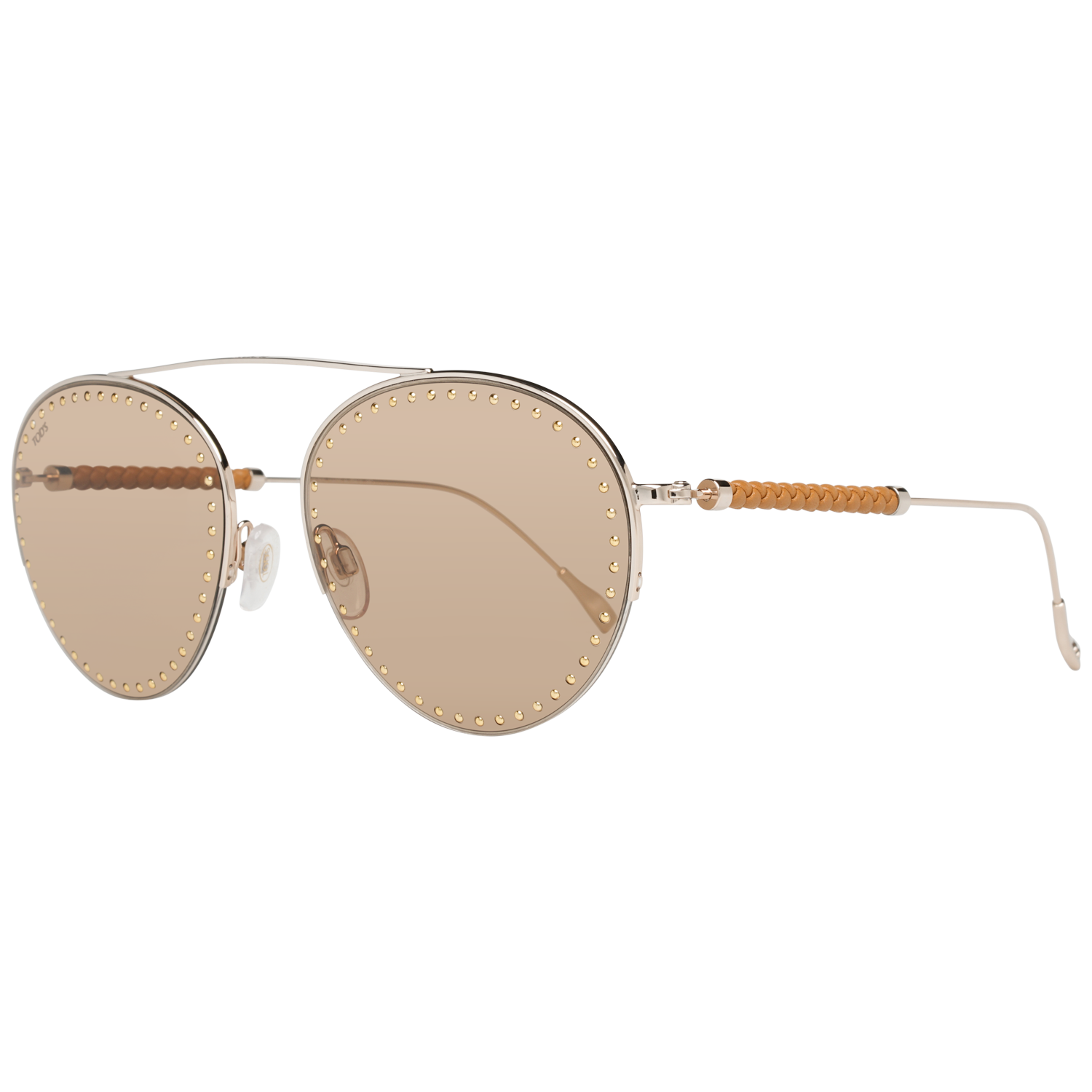 Tods Sunglasses TO0234 28E 60 Rose Gold