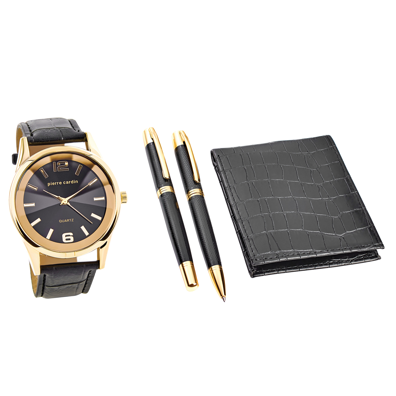 Pierre Cardin Gift Set Watch & Wallet & Pen PCX7870EMI Gold