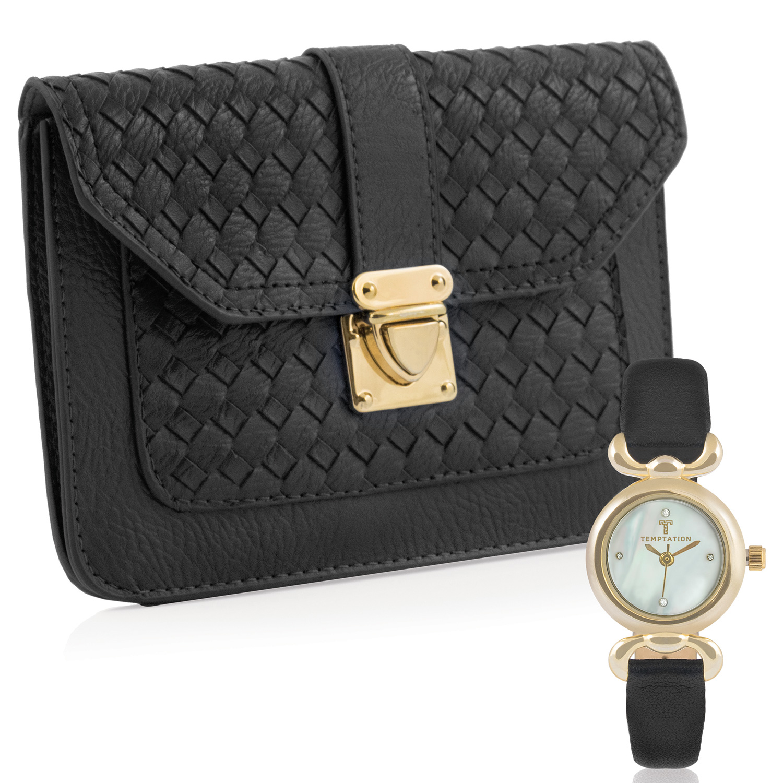 Temptation Handbag & Watch TEA-2017-01 Gift Set Gold